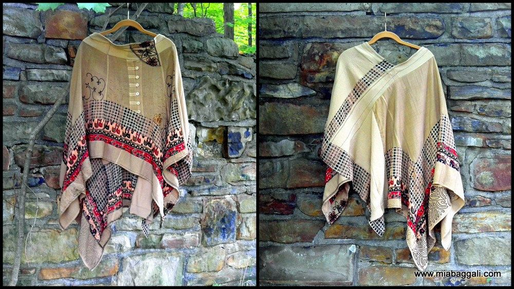 Retro relic poncho / shawl / ruana ~One Size~ gypsy / lagenlook / hippie / boho / art wear ~ by mia baggali by miabaggali on Etsy https://www.etsy.com/listing/250928645/retro-relic-poncho-shawl-ruana-one-size