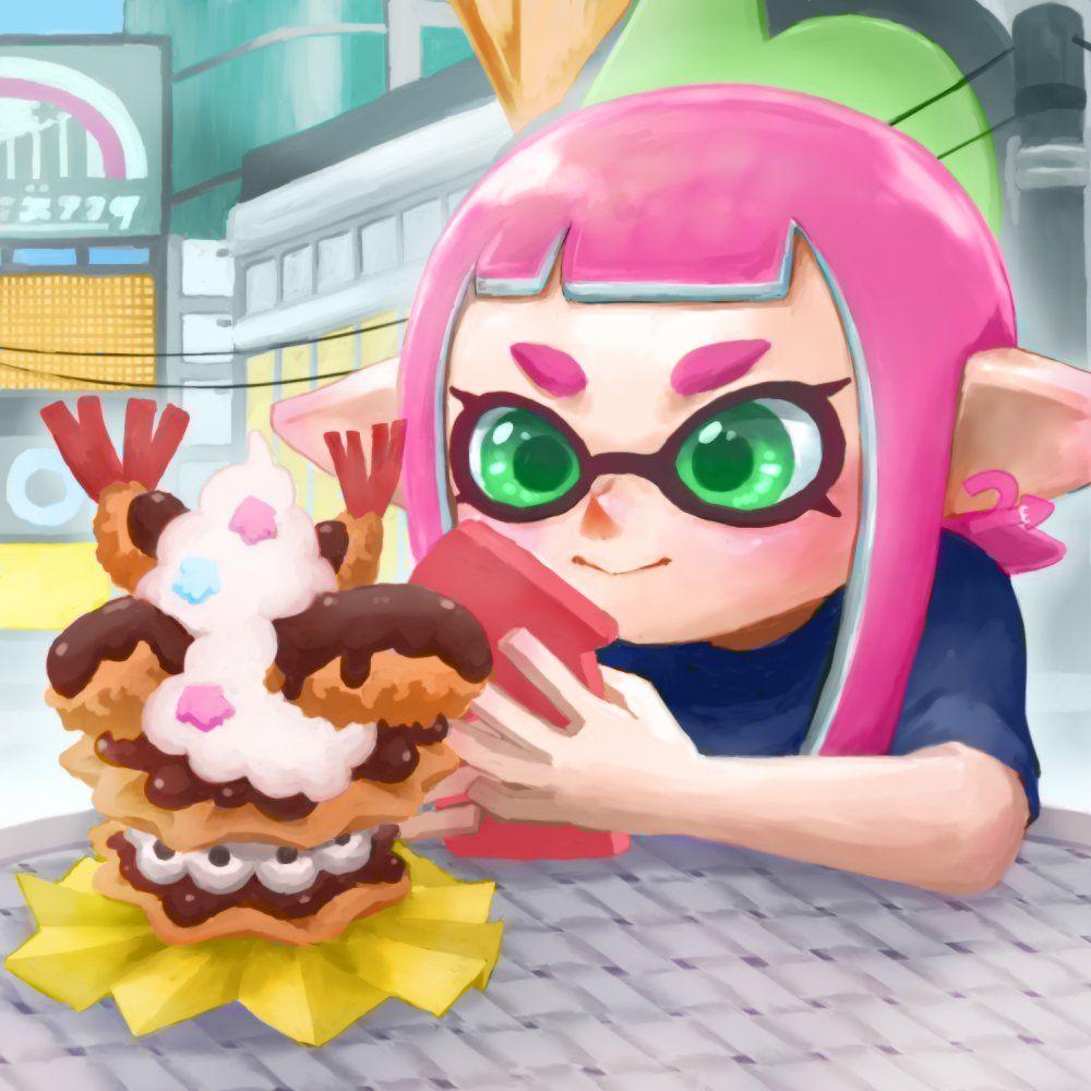Food blogging XD Splatoon Nintendo splatoon, Kawaii