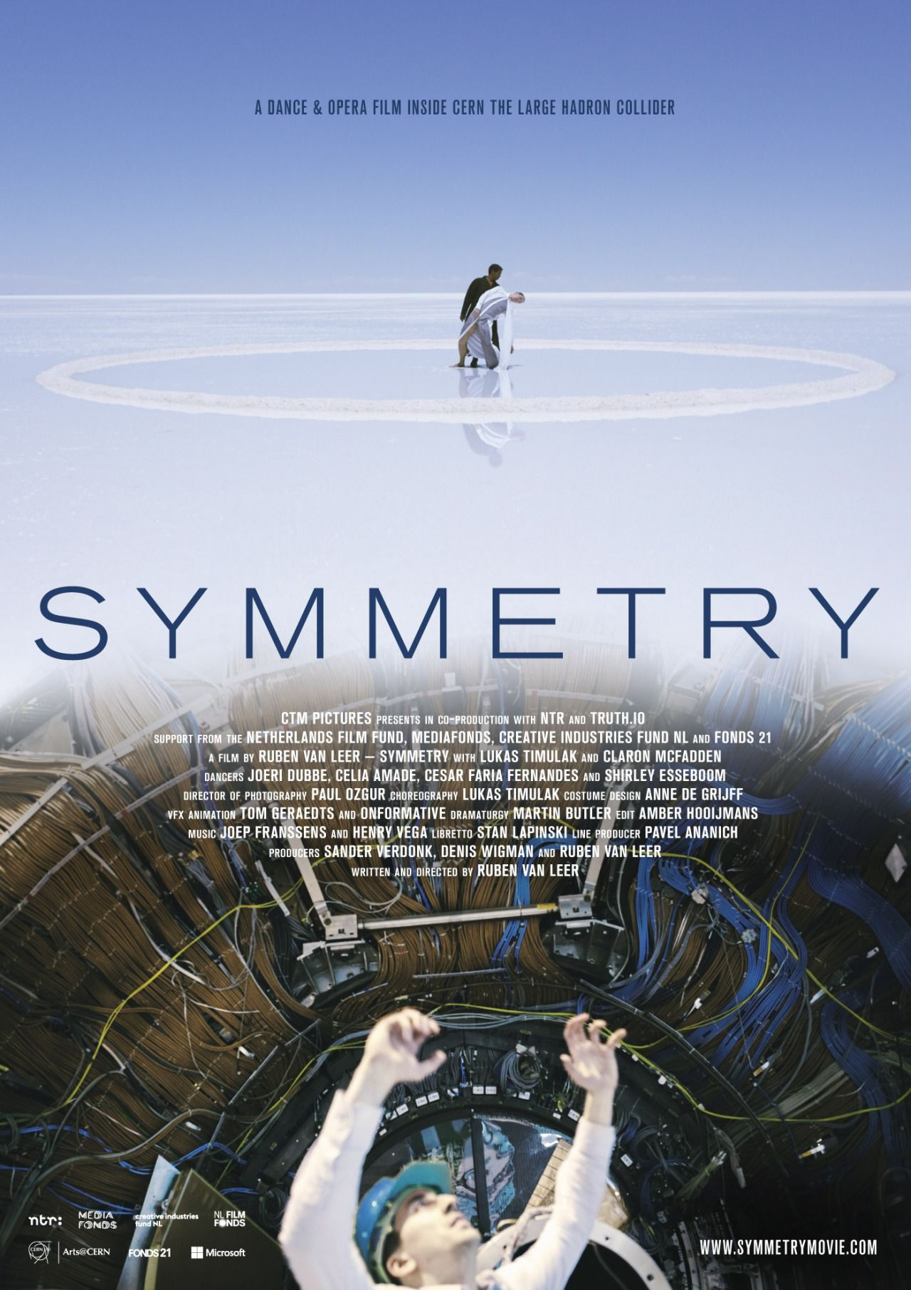 Film poster of SYMMETRY | Hadron Collider conCERN | Large hadron