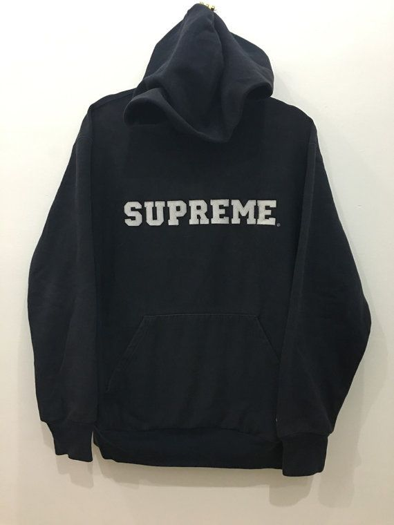 1f2879b7f15 Vintage 90s Supreme X Champion Hoodie Varsity Made In Mexico Jacket ...