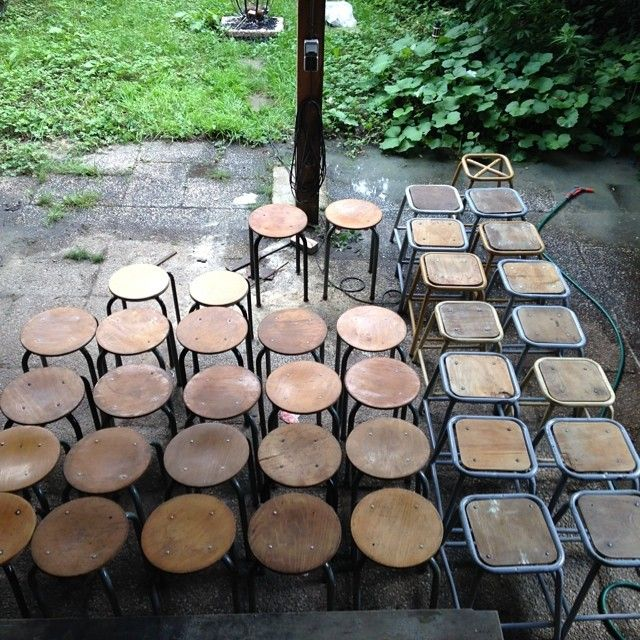 Lots of #industrial #stools got in. We gave 'm a good clean up and now they are ready for your #interior . #interiordesign #industrialstools #vintagestools #vintagefurniture #vintageindustrial #homedeco #industrialantique #antique #antiquestools #tubax #vtwonen #elledecoration #ellewonen #101woonideeen #salvage #reclaimed #brutamsterdam #amsterdam