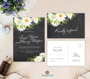 daisy wedding invitation kits google search - Daisy Wedding Invitations