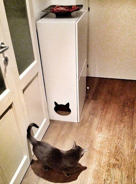 Ikea Cat Litter Cabinet Pet Lettiera Gatti E Animali