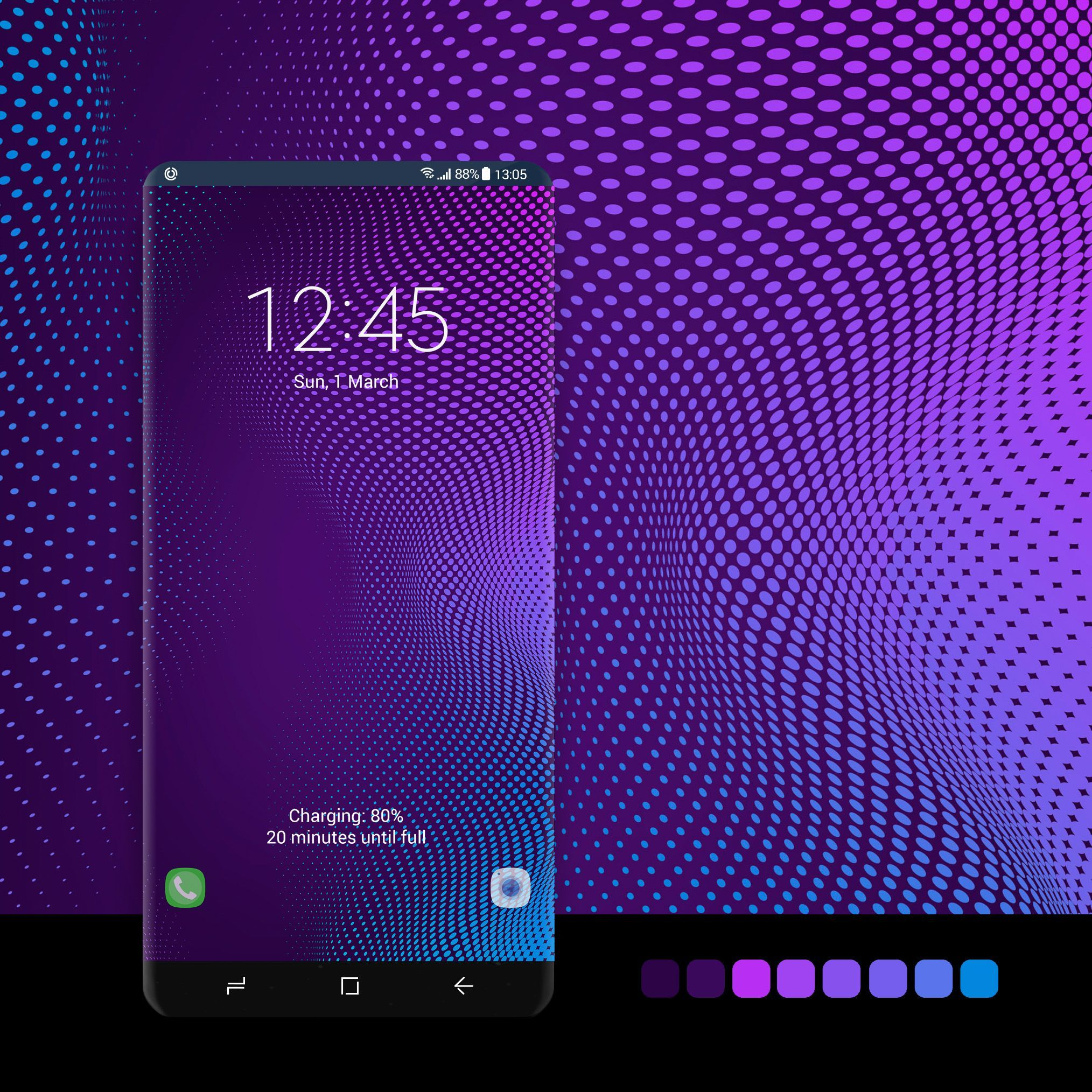 Purple Dotted In 2021 Samsung Galaxy Wallpaper Android Samsung Galaxy Wallpaper Galaxy