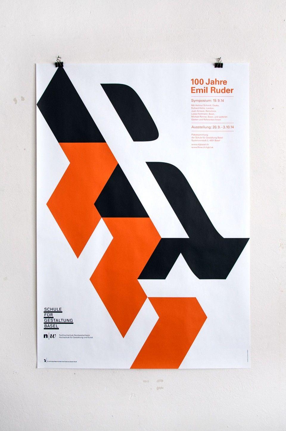 Ruder plakat wand stuff schule f r gestaltung grafik for Grafikdesign schule