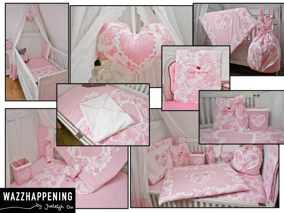 babykamer aankleding in #toile de vlinder roze | babykamer, Deco ideeën