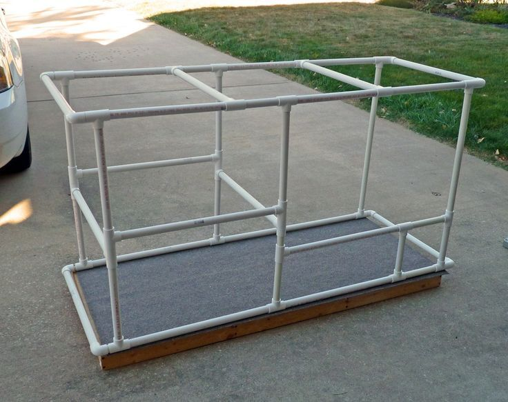 Diy Cat Enclosure Assembled Pvc Frame Animals Diy