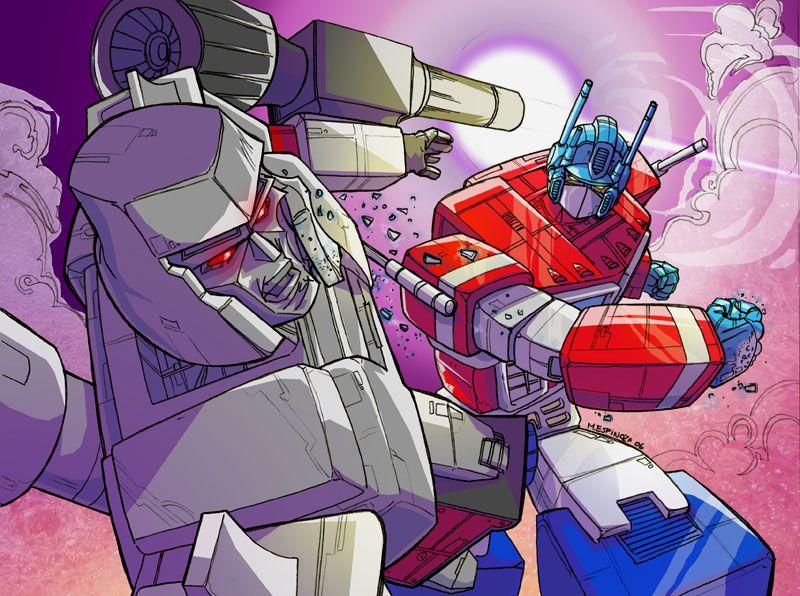 Optimus prime vs megatron transformers mario espinoza - Transformers cartoon optimus prime vs megatron ...