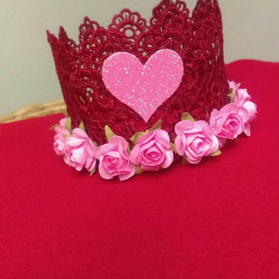Follow and Shop @pinkys_ohh_so_cute for your favorite lace crowns Valentine crowns on SALE $10