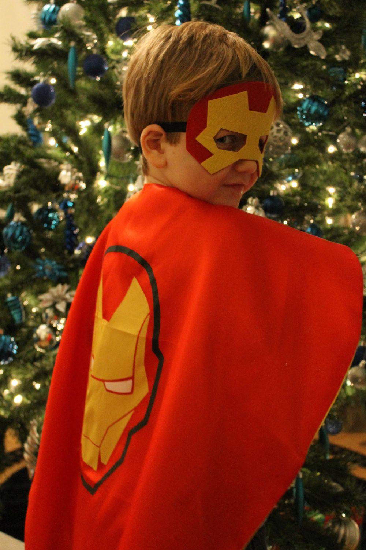 Iron Man Cape and Mask, Iron Man Costume, Iron Man Birthday