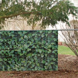 fence fabric cover for vinyl or chain link fencing solutions good ideas garden living. Black Bedroom Furniture Sets. Home Design Ideas