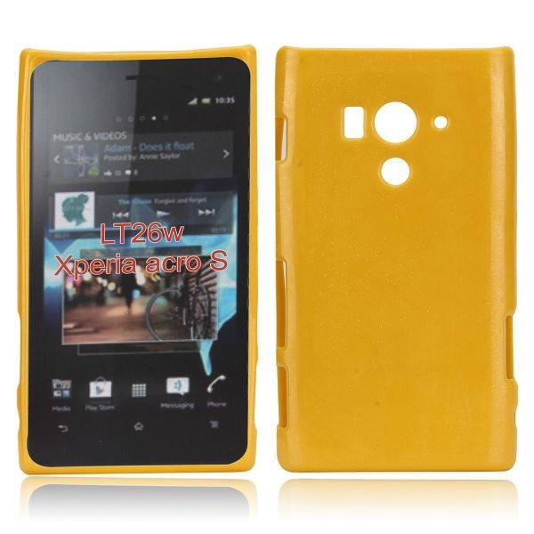 Glitter Shell (Gul) Sony Xperia Acro S Deksel