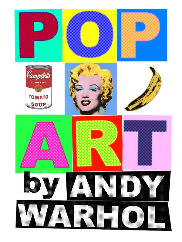 pop art by andy warhol by gustavocavalari art pinterest conception sc nique maternelle et. Black Bedroom Furniture Sets. Home Design Ideas
