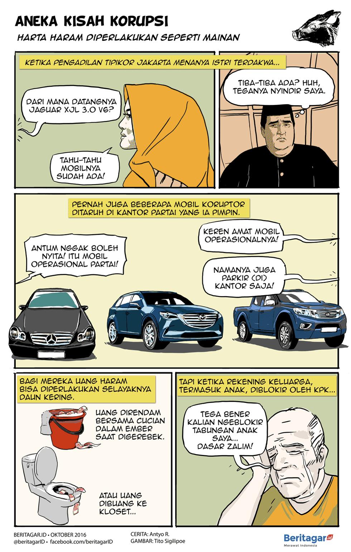 Duit Haram Uang Berlimpah Bisa Membuat Peraupnya Lupa Diri Bahkan Berlaku Lajak Komedi Kartun Komik