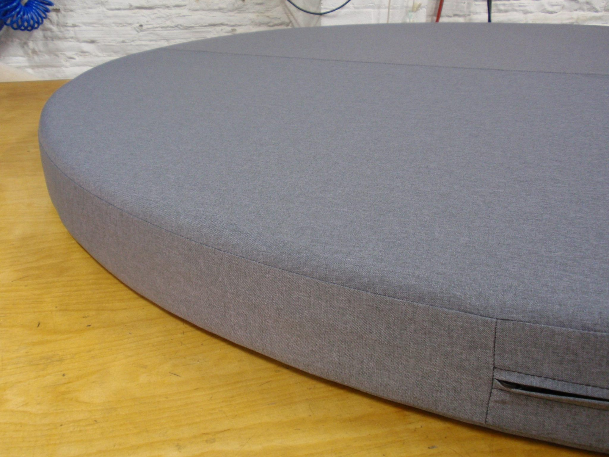 Oversized Foam Cushion With Saddle Stitch In The Middle And A