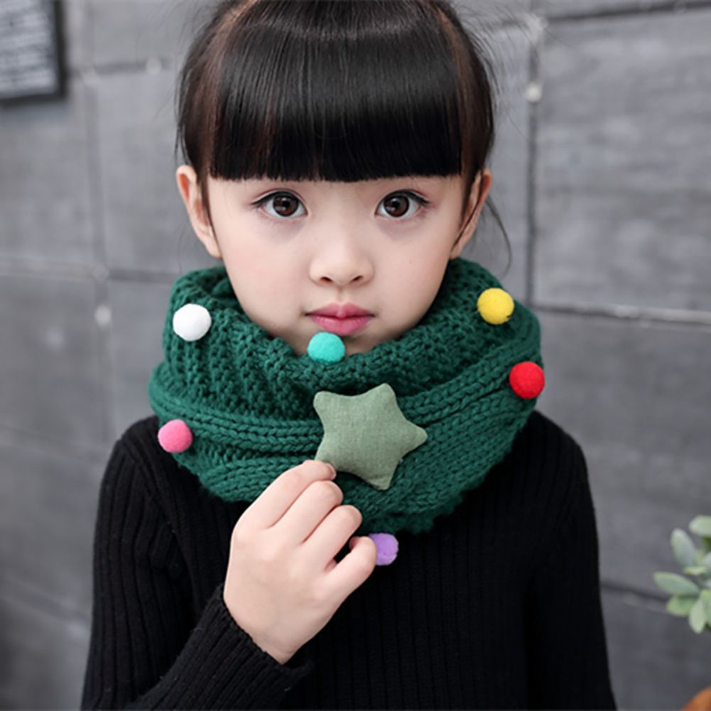 Photo of Baby Jungen Mädchen Soft Candy Farbe Star Strickkragen Winter Warmer Schal