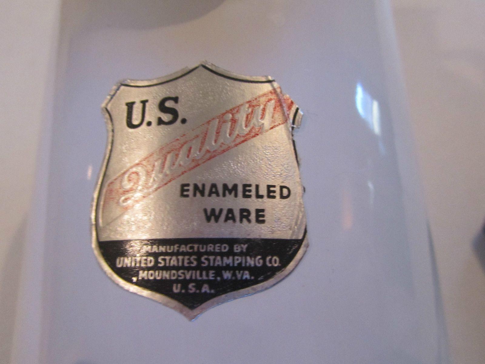 Vintage U s Quality Enamel Ware Urinal White Good Condition Moundsville w VA | eBay