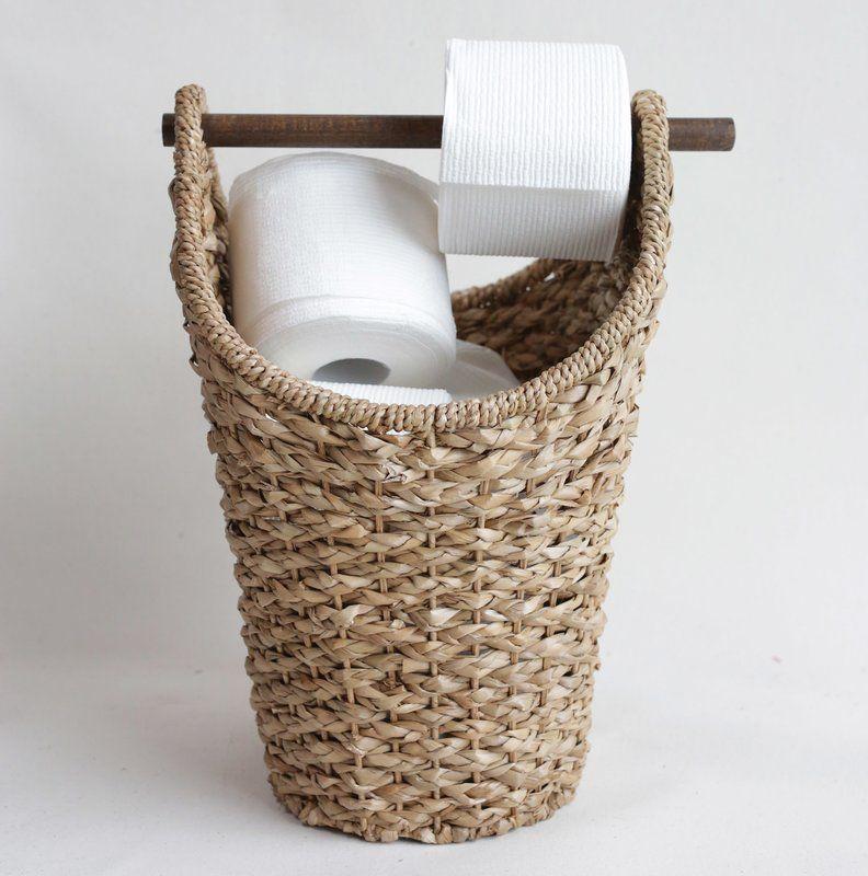 Braided Freestanding Toilet Paper Holder Toilettenpapierhalterung Bad Korbe Papieraufbewahrung