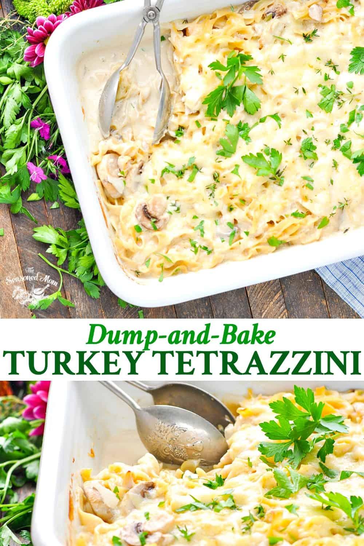 Dump-and-Bake Turkey Tetrazzini - The Seasoned Mom