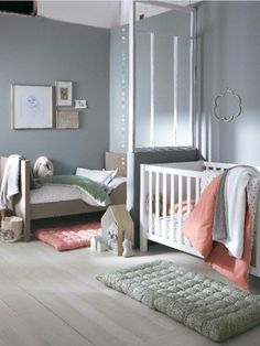 une chambre deux enfants 18 id es pour partager l 39 espace bedrooms 39 style pinterest. Black Bedroom Furniture Sets. Home Design Ideas