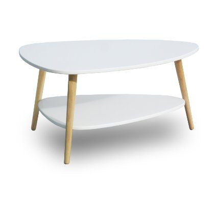 Sørensen design table basse blanc design scandinave naturel en bois clean chic look rétro table basse table dappoint ronde ovale neuf salon étagère 2