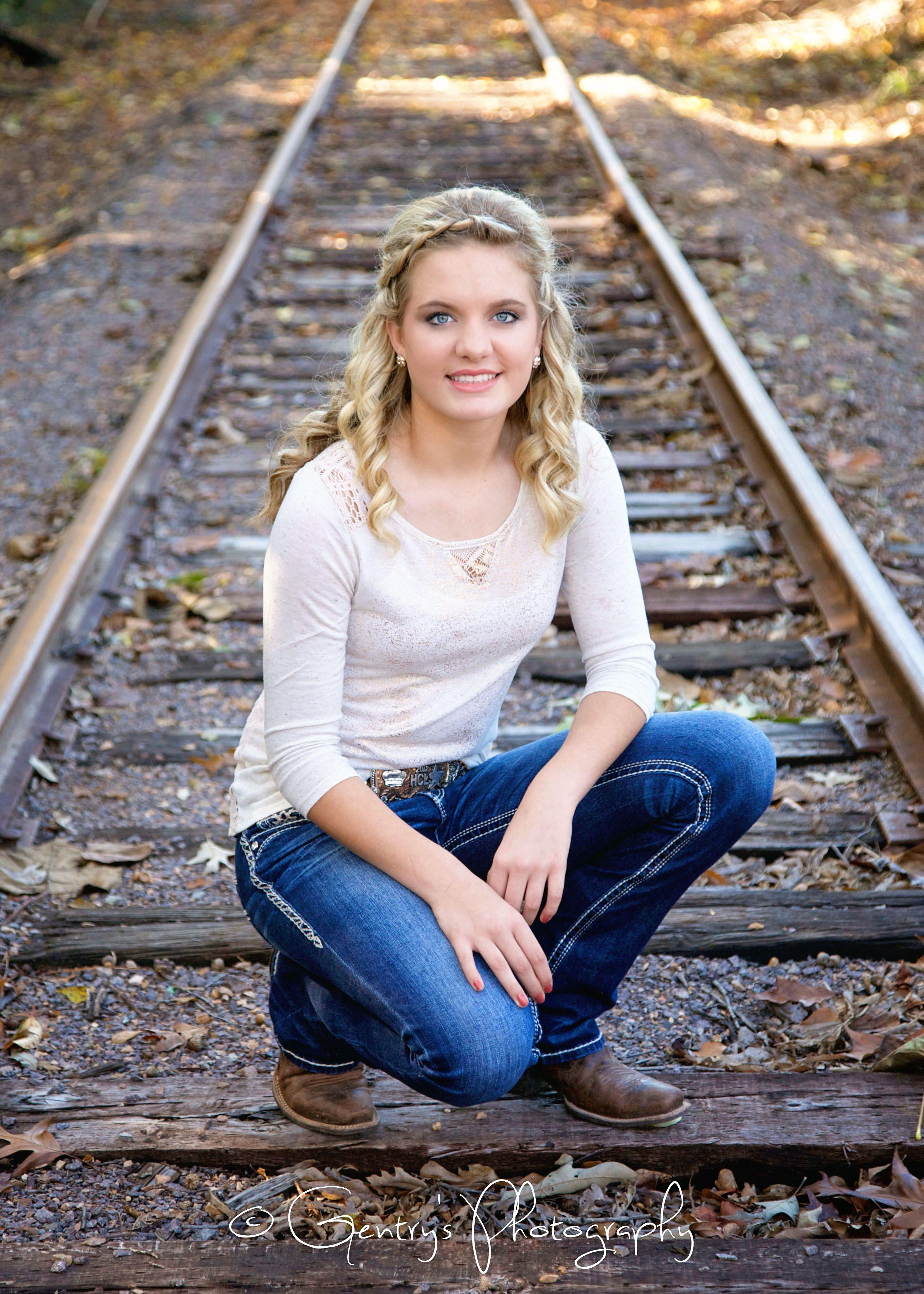 Trucks For Sale In East Texas >> Karlie, Sweet 16, girl, Teenage, kid, blue eyes, boots, railroad tracks, old truck, rustic ...