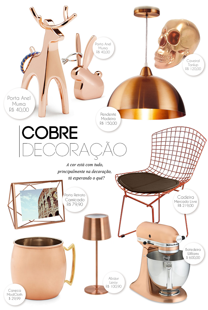 Onde comprar: decoração em cobre
