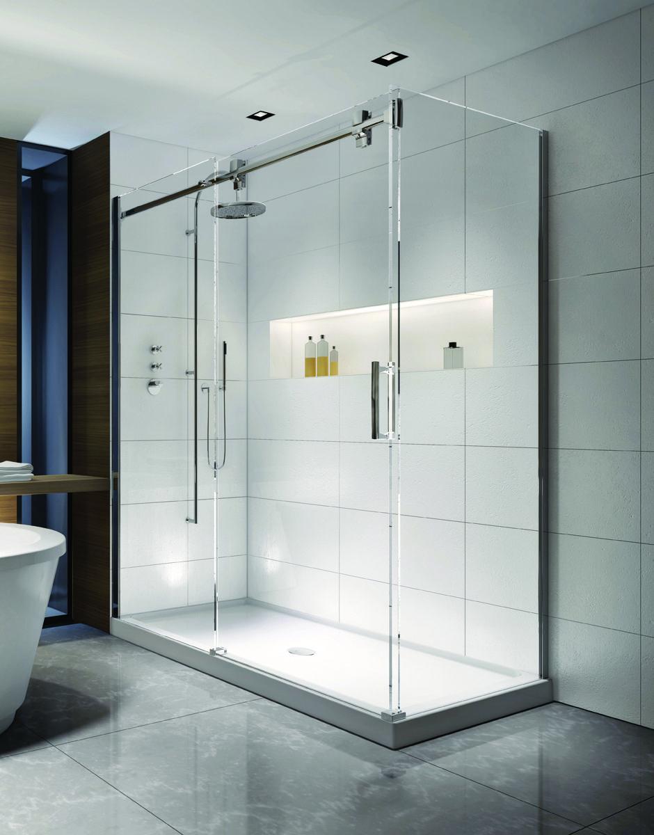 Glass tub shower divider asian — pic 2