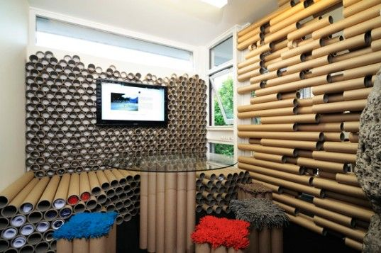 Zouk Architects Repurpose Shipping Materials Into Paper Tube