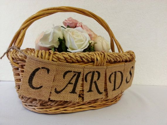 Rustic Wedding Card Basket Country By RedHeartCreations 3900