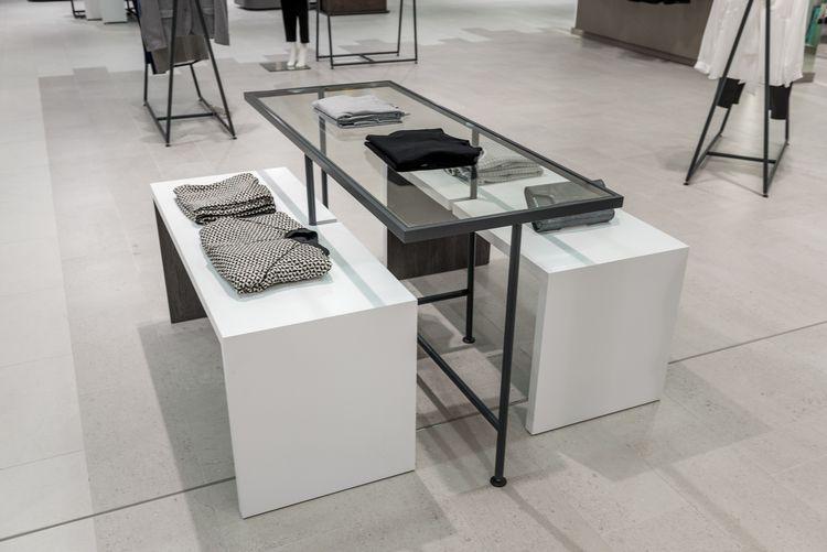 jarrold norwich new fashion floor retail fixtures tables