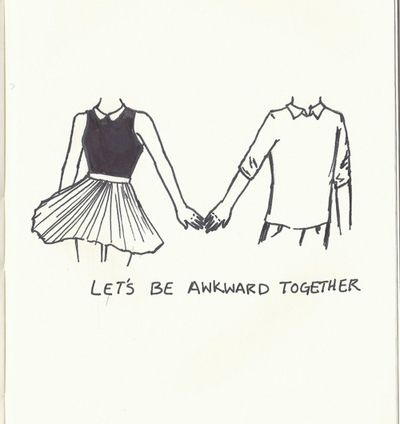 Awkward Together Tumblr Drawings Pinte