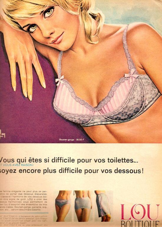 e26f99e7c25e2 1960s lingerie advert | retro ad's in 2019 | Lingerie, Retro ...