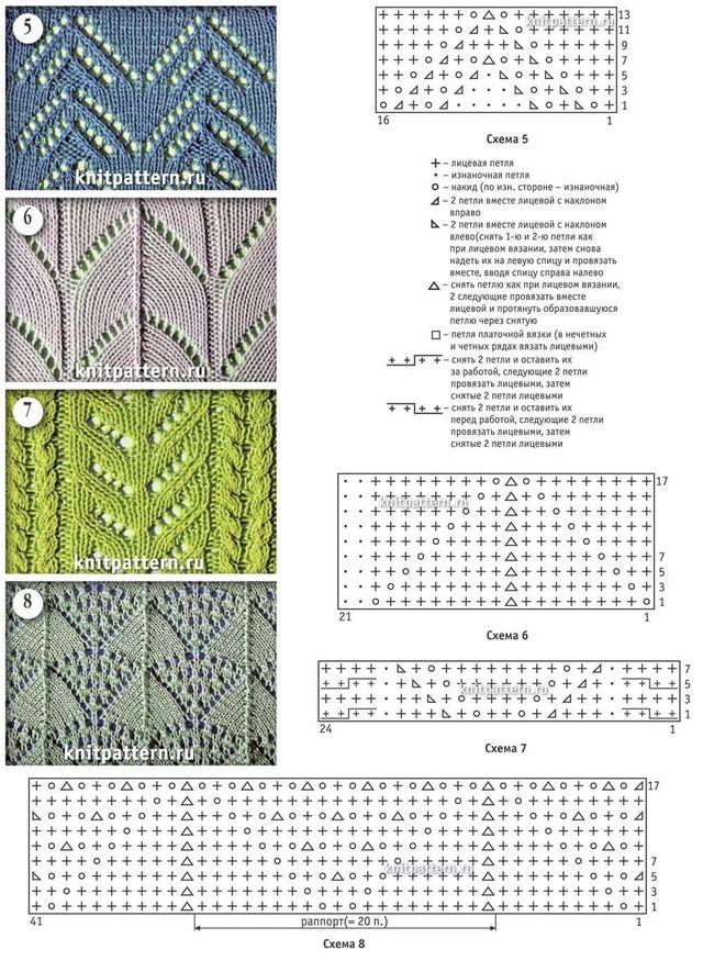 Вязание со схемами спицами узоры картинки схемы