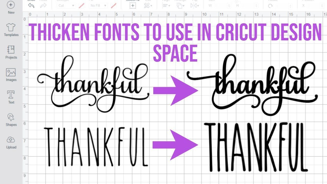 HOW TO THICKEN FONTS IN INKSCAPE TO USE IN CRICUT DESIGN