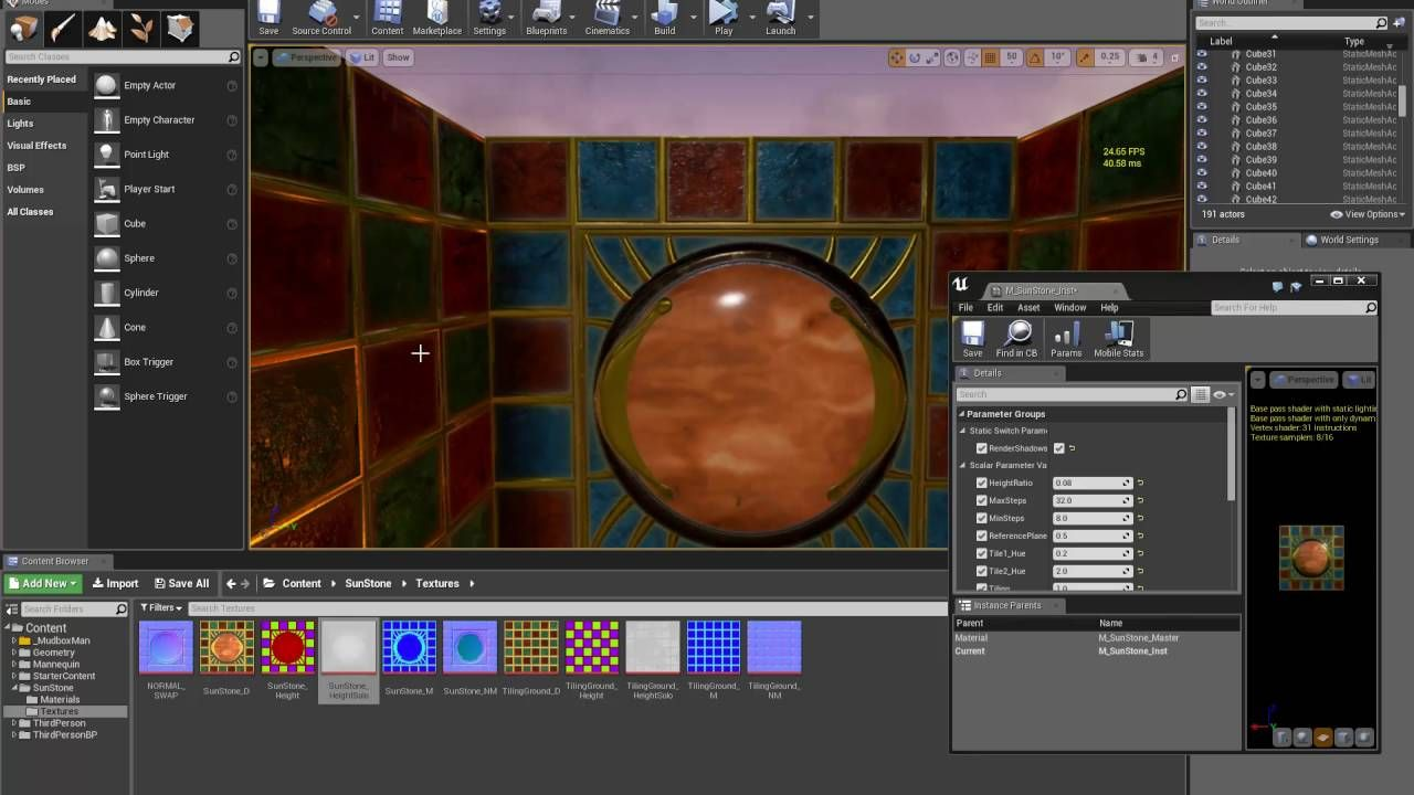 Ue4 Parallax Occlusion Mapping Walkthrough Game Design Unreal Engine Tech Art