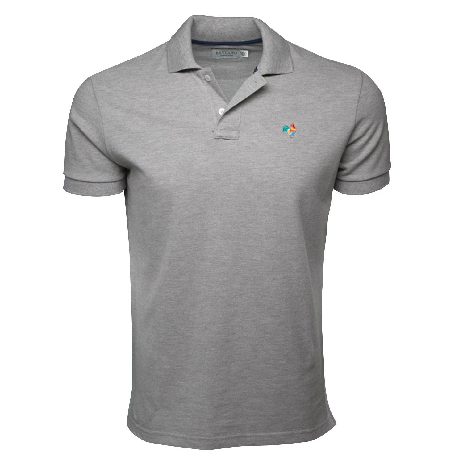 8bd65118f Heather Grey Polo Shirt with Multi-Color Rooster | alumni shirt ...