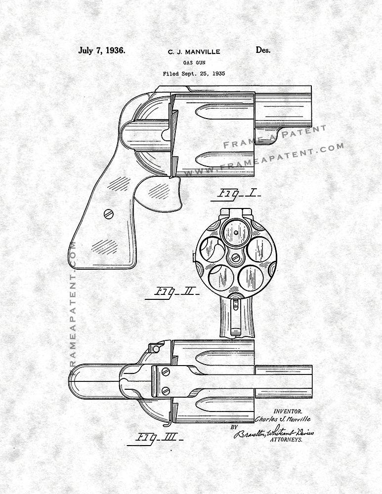 Gas Gun Patent Print