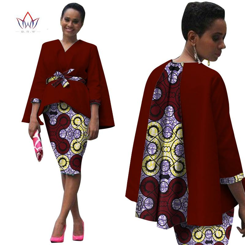 f258179a867f9 Aliexpress.com: Acheter Afrique Style Femmes Africain Vêtements Deux Pièces  Ensemble Robe Costume pour