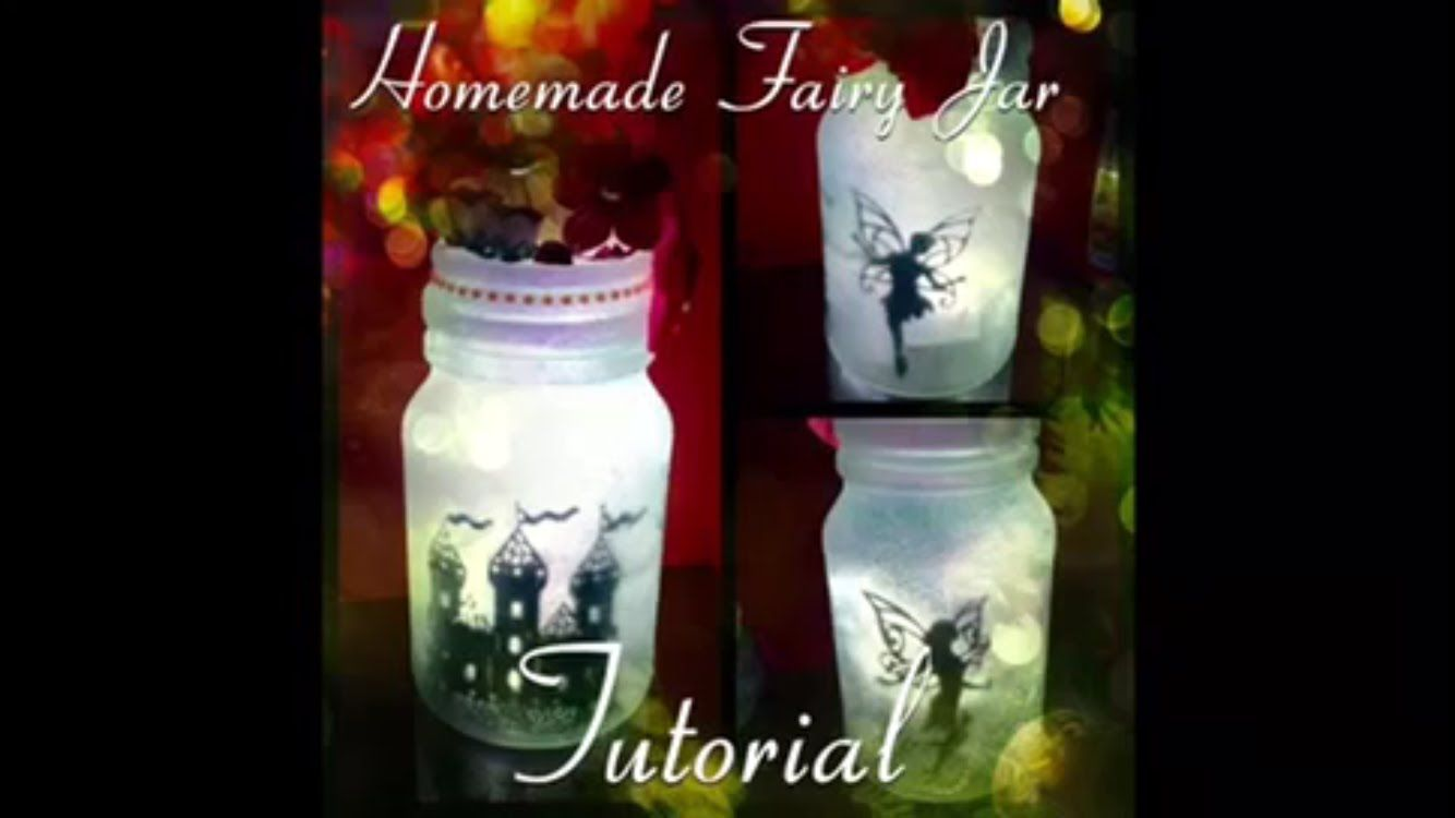 Easy tutorial on how to make a fairy jar lantern lamp made without