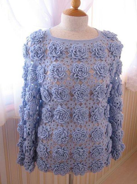 + de 15 blusas crochetadas belíssimas para inspirar-se!