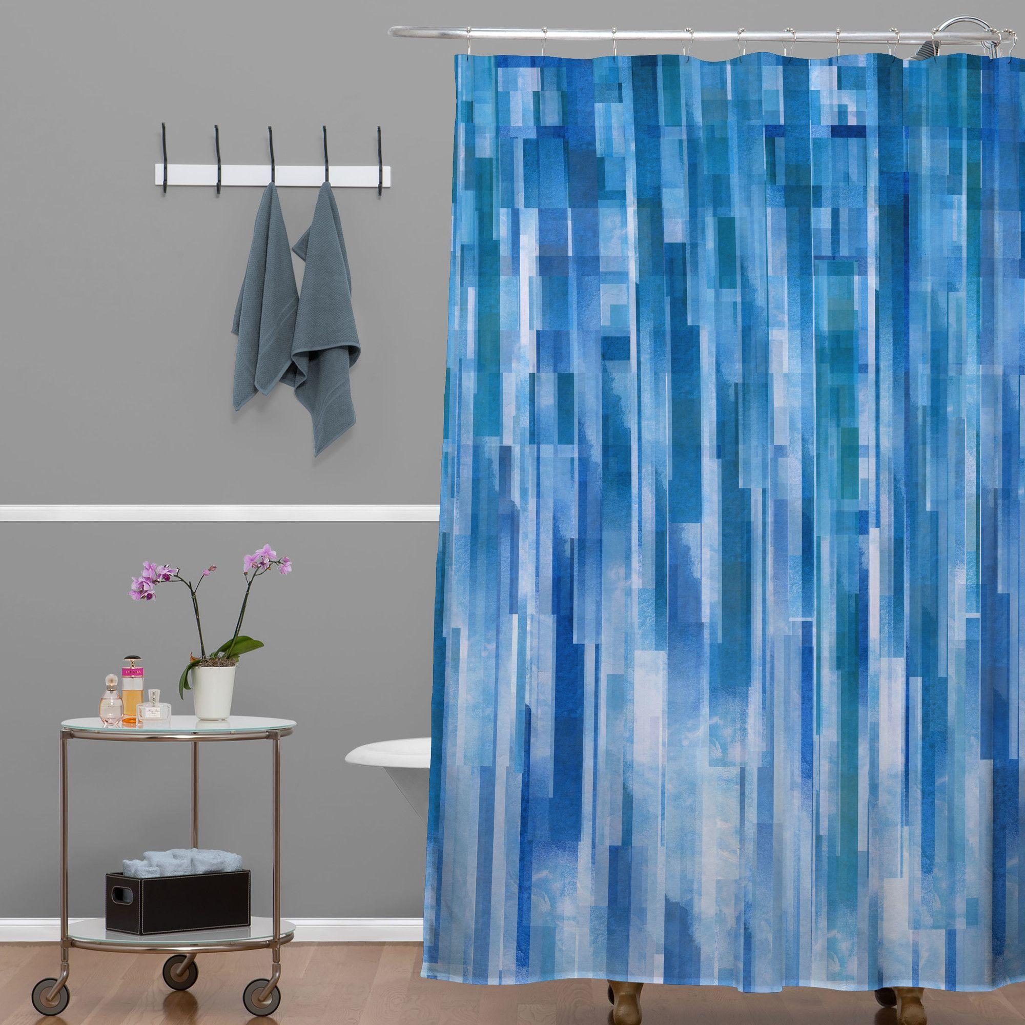 Jacqueline Maldonado Rain Single Shower Curtain Curtains Striped Shower Curtains Diy Molding