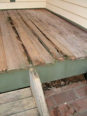 This Tongue And Groove Porch Flooring Is Exposed To The Weather It Suffered Serious Rot Because Was Not Treated With A Preservative