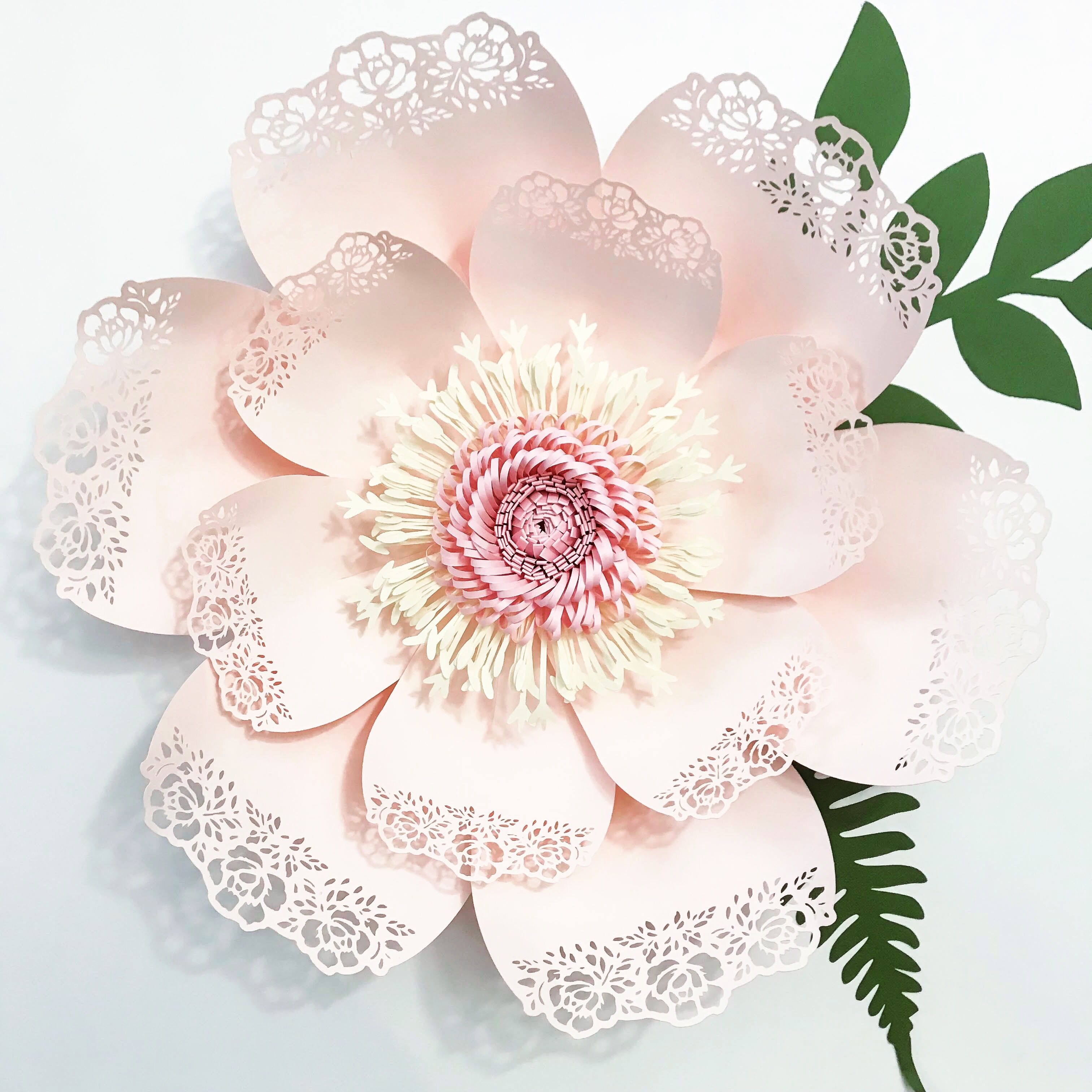 Lace paper flower template 5 learn the art of paper flower lace paper flower template 5 learn the art of paper flower artistry paper flower templates from the crafty sagittarius it comes in svg video tutorial mightylinksfo