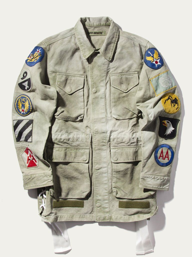 Field Military Jacket Patches M Fashion Vintage