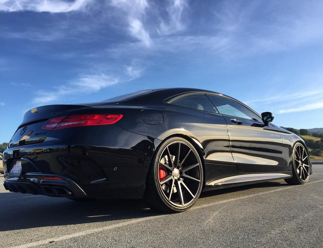 Mercedes S63 Amg Coupe >> Blacked out S63 coupe lowered on some @vossen flow worked ...