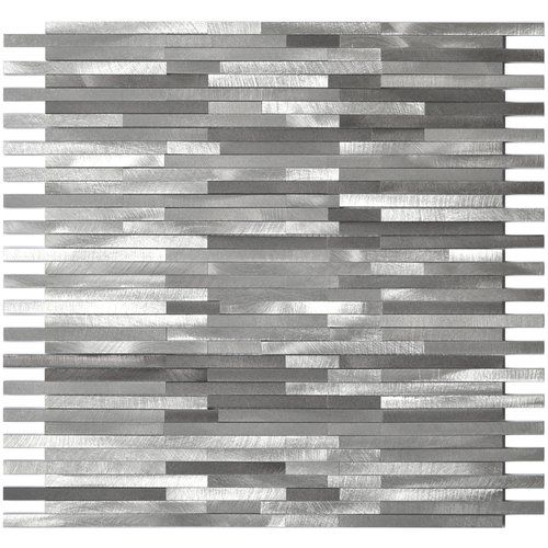 Blends Thin Lines 11 75 Quot X 12 Quot Metal Mosaic Tile In 2020