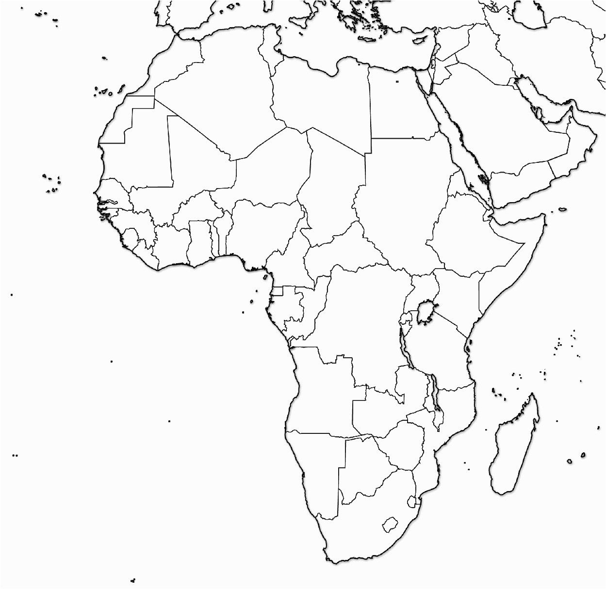 Blank Map Of Africa And Asia Comprehensible Blank Map Of Eurasia And Africa Asia High Res Photo