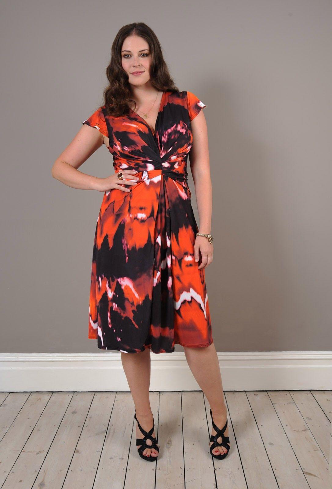 Anna Scholz - Digital Jersey Tuck Pleat Dress