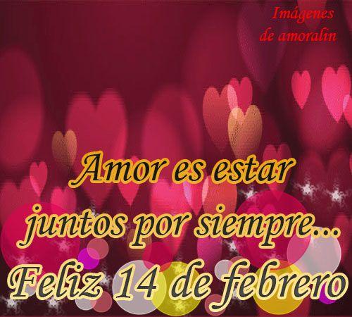 Amor es estar junto por siempre...Feliz 14 de febrero